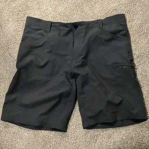 Gray travel shorts